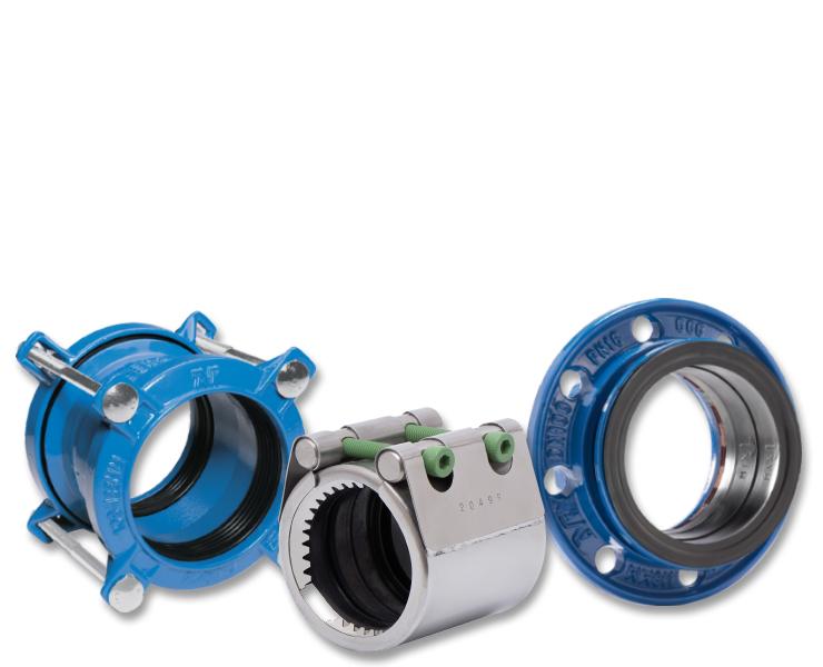 AVK couplings adaptors for wastewater