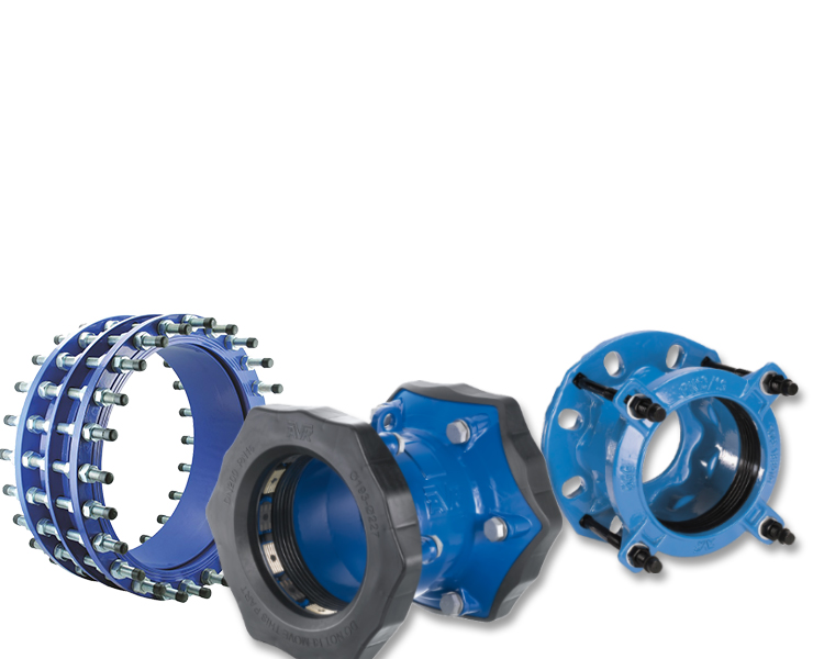 AVK couplings adaptors for water