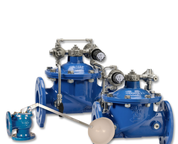 Water plant work control valves and ball float valves